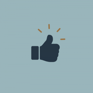 An icon of a thumbs up.