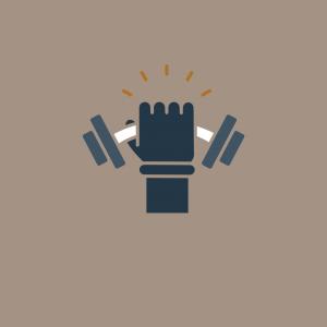 A hand holding a weight.